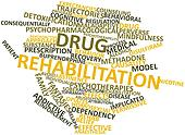Word cloud for Drug rehabilitation