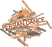 Word cloud for Persian dance