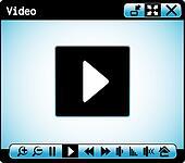 web video player window