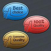 best choice, guarantee quality, 100 quality labels