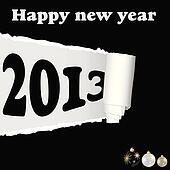 new year 2013 background illustration