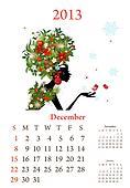 Fashion girls 2013 calendar year, december