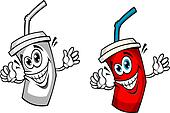 Fresh soda drink with straw