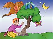 Boy's Imagination, illustration