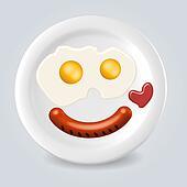 Food plate smile