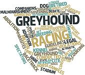 Word cloud for Greyhound racing