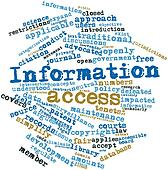 Word cloud for Information access