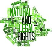 Word cloud for Natural and legal rights