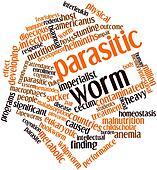 Word cloud for Parasitic worm
