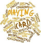 Word cloud for Playing card