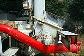 Tank pumping concrete pump truck