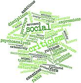 Word cloud for Social criticism