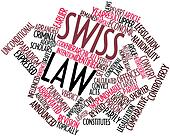 Word cloud for Swiss law