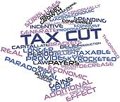Word cloud for Tax cut