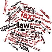 Word cloud for Tax law