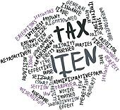 Word cloud for Tax lien