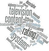 Word cloud for Television content rating systems