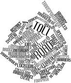 Word cloud for Toll road