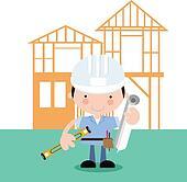On site-surveyor,inspector,builder,