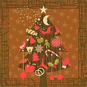 Advent Christmas Tree Greeting Card