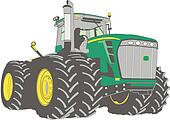 Large farm tractor