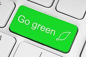 Go green button on keyboard background