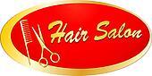 golden signboard for barbershop