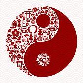 Chinese New Year of the Snake yin yang