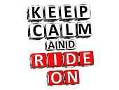 3D Keep Calm And Ride On Button Click Here Block Text