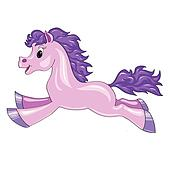 a small purple horse
