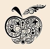 Decorative apple vector