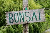Bonsai sign