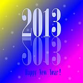 Happy New Year colorful background