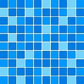 Vector blue tile wall