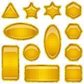 Set gold buttons