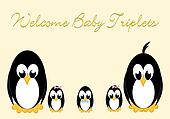 Welcome Baby Penguins - triples