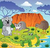 Australian animals theme 3