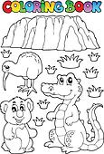 Coloring book Australian fauna 3