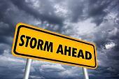 Storm ahead sign