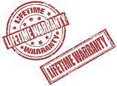 Lifetime warranty stamps