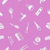 Seamless cosmetics background textu