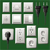 Plug and light switch set