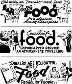 Vector Retro Diner Advertising Graphics