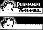 Vector Retro Hair Salon Banners