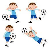 Footballer (soccer player) set