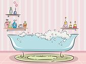Bathtub with Bubbles