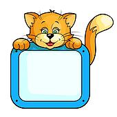 cat with frame
