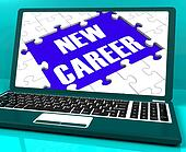 New Career On Laptop Shows New Employment Goal