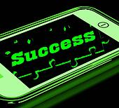 Success On Smartphone Showing Progression