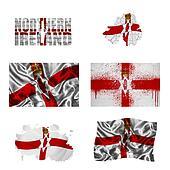 Northern Ireland flag collage